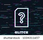 glitch effect. unknown document ...
