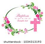 baptism card design with cross. ...   Shutterstock .eps vector #1034313193