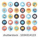 abstract vector set of colorful ... | Shutterstock .eps vector #1034314123