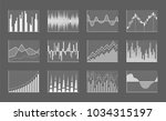 business charts collection with ...   Shutterstock .eps vector #1034315197