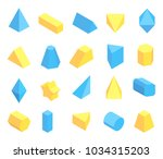 lot of blue and yellow... | Shutterstock .eps vector #1034315203