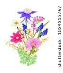 bouquet of spring  summer... | Shutterstock .eps vector #1034315767