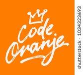 code oranje illustration on the ...   Shutterstock .eps vector #1034323693