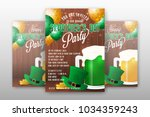 realistic st.patrick's day...   Shutterstock .eps vector #1034359243