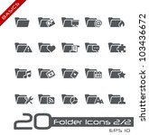 Folder Icons - 2 of 2 // Basics - stock vector