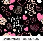 my dog lettering colour vector...   Shutterstock .eps vector #1034374687