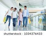 cheerful vietnamese family of... | Shutterstock . vector #1034376433