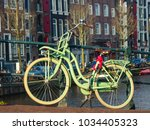 view of the classialc bicycle... | Shutterstock . vector #1034405323