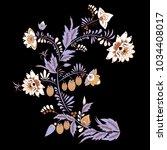 stock vector abstract hand draw ... | Shutterstock .eps vector #1034408017