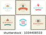 happy birthday greeting cards...   Shutterstock .eps vector #1034408533