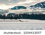 winter landscape in the...   Shutterstock . vector #1034413057