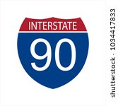vector illustration interstate... | Shutterstock .eps vector #1034417833