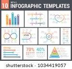 9 infographic templates  set 4  ... | Shutterstock .eps vector #1034419057