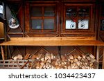 kiosks for selling pies on the... | Shutterstock . vector #1034423437