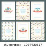 happy birthday greeting cards... | Shutterstock .eps vector #1034430817