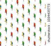 parrot vector seamless pattern... | Shutterstock .eps vector #1034435773
