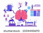 artificial intelligence vector... | Shutterstock .eps vector #1034440693