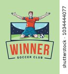 the soccer winner is a vector...   Shutterstock .eps vector #1034444077