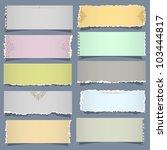 ten notes paper in pastel... | Shutterstock .eps vector #103444817