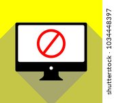 empty ban sign. vector. red... | Shutterstock .eps vector #1034448397