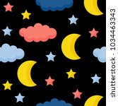 abstract handmade star seamless ... | Shutterstock .eps vector #1034463343