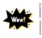 wow   vector poster with... | Shutterstock .eps vector #1034465713