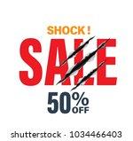 shock sale half price with... | Shutterstock .eps vector #1034466403