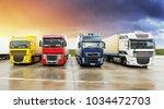 truck  transportation  freight...   Shutterstock . vector #1034472703