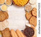 selection of gluten free food | Shutterstock . vector #1034474203