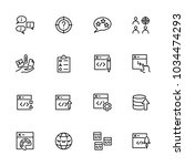 line icon set related of web...