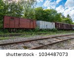 Old And Abandoned Set Of Train...