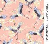 crane  pattern  illustration | Shutterstock . vector #1034499067