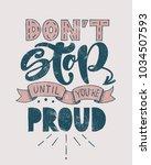 retro motivational quote. don't ... | Shutterstock .eps vector #1034507593