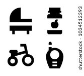 icons baby with tricycle ... | Shutterstock .eps vector #1034512393