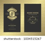 luxury business card and... | Shutterstock .eps vector #1034515267