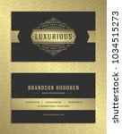 luxury business card and... | Shutterstock .eps vector #1034515273