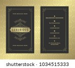 luxury business card and... | Shutterstock .eps vector #1034515333
