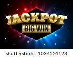 jackpot  gambling casino money... | Shutterstock .eps vector #1034524123