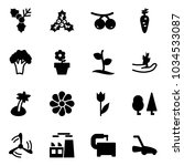 solid vector icon set   holly... | Shutterstock .eps vector #1034533087