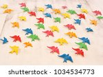 Stock photo typical portuguese decoration colorful swallow birds on the wall agueda city portugal 1034534773