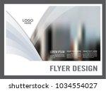 black and white brochure flyer... | Shutterstock .eps vector #1034554027