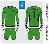 goalkeeper jersey or soccer kit ...   Shutterstock .eps vector #1034558803
