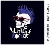 little rocker skull vector... | Shutterstock .eps vector #1034563537