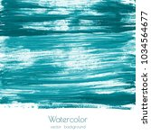 turquoise blue  mint watercolor ... | Shutterstock .eps vector #1034564677
