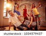 hip hop lifestyle concept  ... | Shutterstock . vector #1034579437