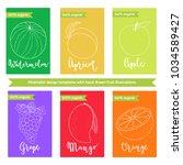 fruit label or sticker template ... | Shutterstock .eps vector #1034589427