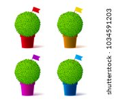 colorful vector realistic... | Shutterstock .eps vector #1034591203