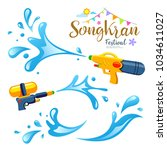 vector sign and water songkran... | Shutterstock .eps vector #1034611027