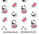 seamless pattern  cute baby...   Shutterstock .eps vector #1034612113