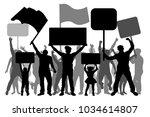 manifestation  demonstration ... | Shutterstock .eps vector #1034614807